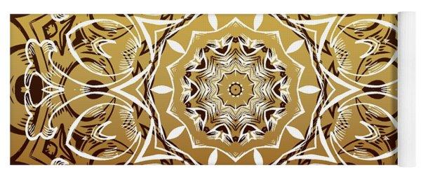 Coffee Flowers 7 Calypso Ornate Medallion Yoga Mat