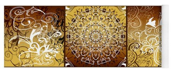 Coffee Flowers Calypso Triptych 1 Horizontal   Yoga Mat