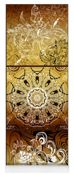 Coffee Flowers Calypso Triptych 3 Vertical Yoga Mat
