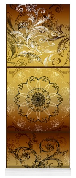 Coffee Flowers Calypso Triptych 4 Vertical Yoga Mat