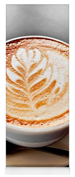 Coffee Latte With Foam Art Yoga Mat