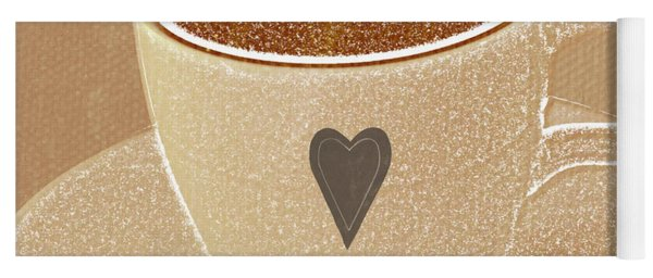 Coffee Love In Mocha Yoga Mat