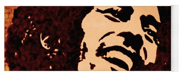 Coffee Painting Bob Marley Yoga Mat