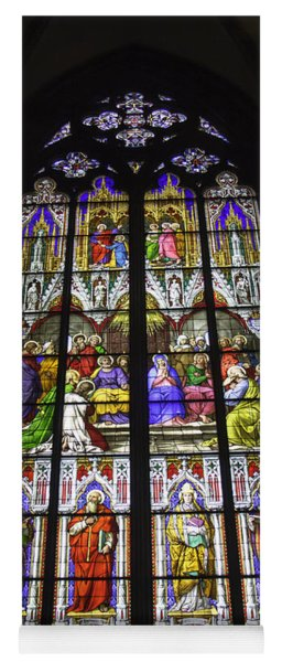 Cologne Cathedral Stained Glass Window Of Pentecost Yoga Mat
