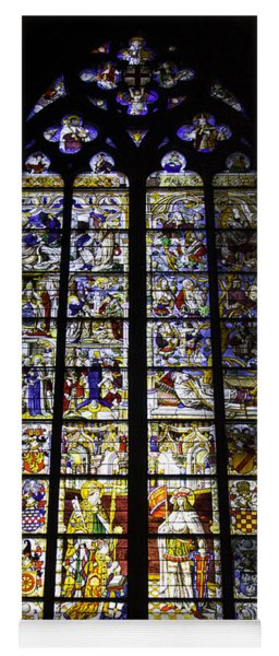 Cologne Cathedral Stained Glass Window Of St Peter And Tree Of Jesse Yoga Mat