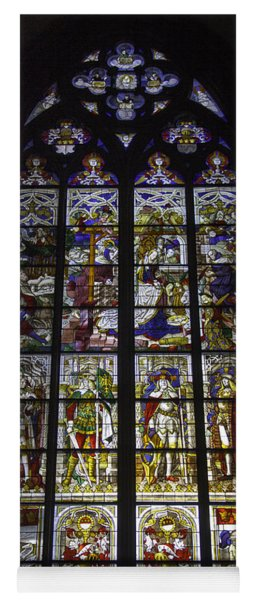 Cologne Cathedral Stained Glass Window Of The Nativity Yoga Mat