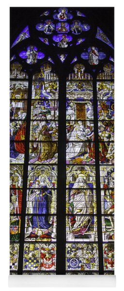 Cologne Cathedral Stained Glass Window Of The Three Holy Kings Yoga Mat