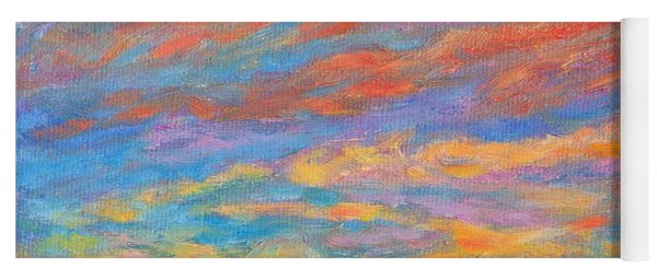 Color Ripples Over The Blue Ridge Yoga Mat