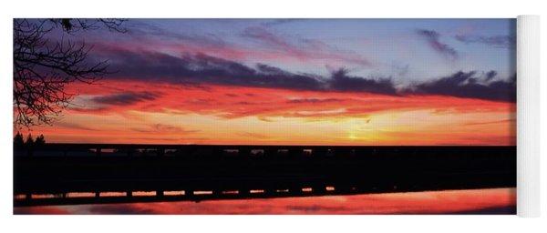 Color Splash Sunset Yoga Mat