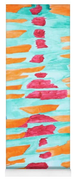 Yoga Mat featuring the painting Color Totem by Gina Bonelli