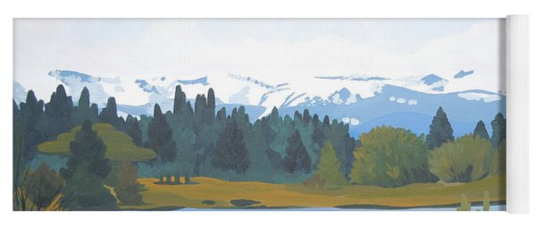 Colorado Mountains Yoga Mat