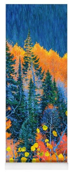 Colorado Trees At Fall Yoga Mat