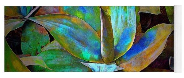 Colored Cactus Yoga Mat