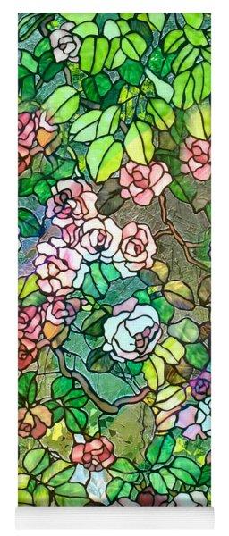 Colored Rose Garden Yoga Mat
