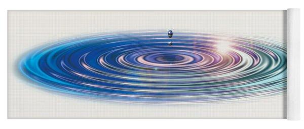 Colored Water Drop Yoga Mat