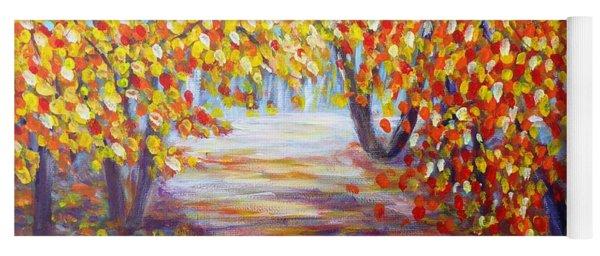 Colorful Autumn Yoga Mat