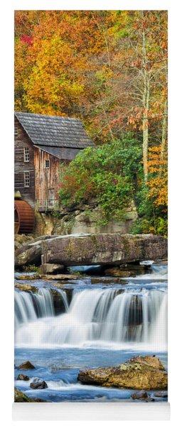 Colorful Autumn Grist Mill Yoga Mat