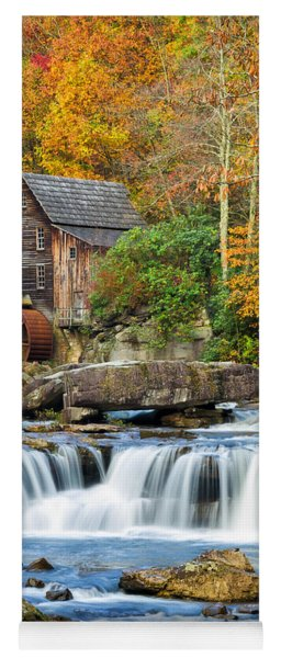 Colorful Autumn Grist Mill Yoga Mat