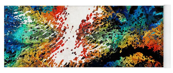 Colorful Bear Art - Bear Stare - By Sharon Cummings Yoga Mat