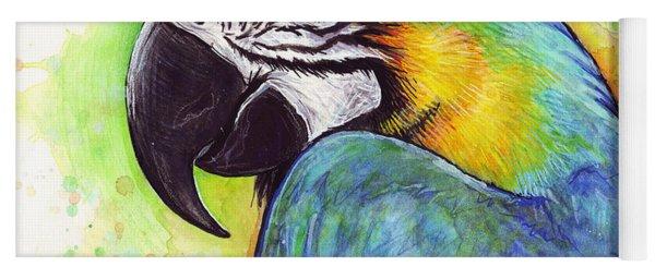 Macaw Watercolor Yoga Mat