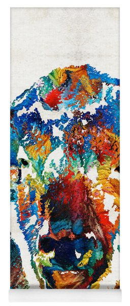 Colorful Buffalo Art - Sacred - By Sharon Cummings Yoga Mat