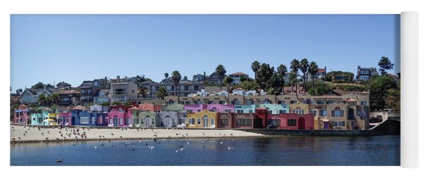 Colorful Buildings And Beach Yoga Mat