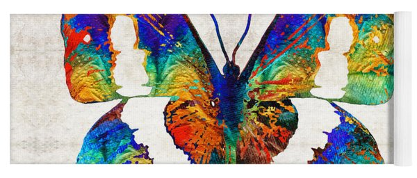 Colorful Butterfly Art By Sharon Cummings Yoga Mat