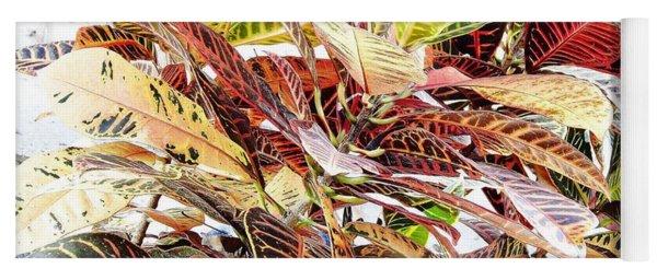 Colorful - Croton - Plant Yoga Mat