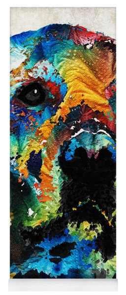 Colorful Dog Art - Heart And Soul - By Sharon Cummings Yoga Mat