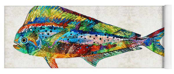 Colorful Dolphin Fish By Sharon Cummings Yoga Mat
