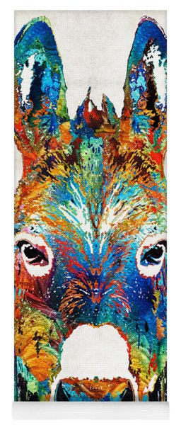 Colorful Donkey Art - Mr. Personality - By Sharon Cummings Yoga Mat