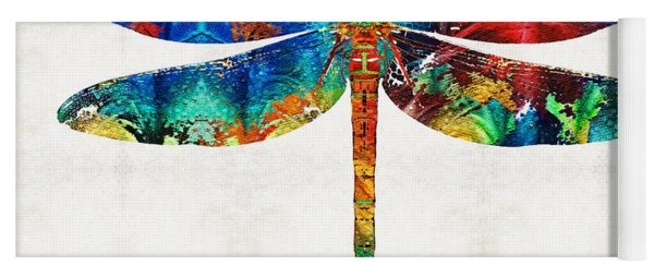 Colorful Dragonfly Art By Sharon Cummings Yoga Mat