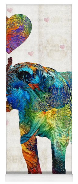 Colorful Elephant Art - Elovephant - By Sharon Cummings Yoga Mat