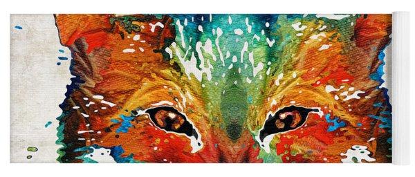 Colorful Fox Art - Foxi - By Sharon Cummings Yoga Mat