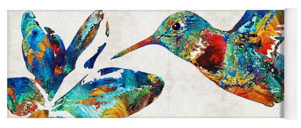 Colorful Hummingbird Art By Sharon Cummings Yoga Mat