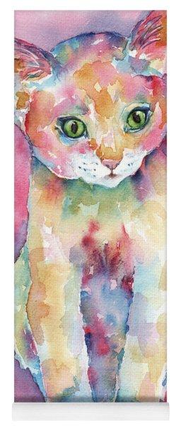 Colorful Kitten Yoga Mat