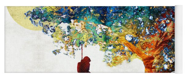Colorful Landscape Art - The Dreaming Tree - By Sharon Cummings Yoga Mat