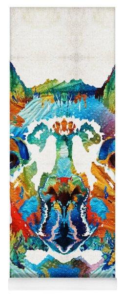 Colorful Llama Art - The Prince - By Sharon Cummings Yoga Mat
