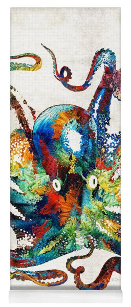Colorful Octopus Art By Sharon Cummings Yoga Mat