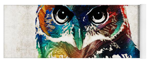 Colorful Owl Art - Wise Guy - By Sharon Cummings Yoga Mat