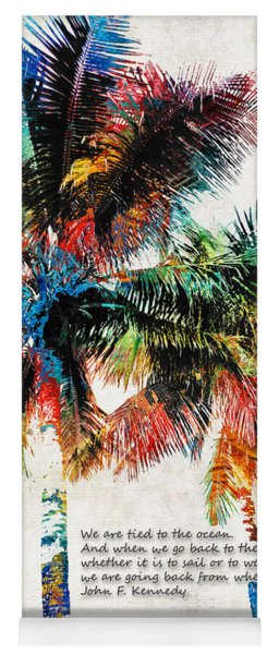 Colorful Palm Trees - Returning Home - By Sharon Cummings Yoga Mat