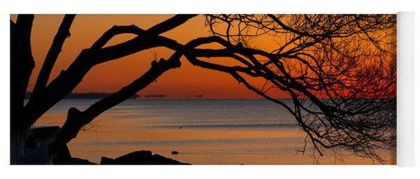 Colorful Quiet Sunrise On Lake Ontario In Toronto Yoga Mat
