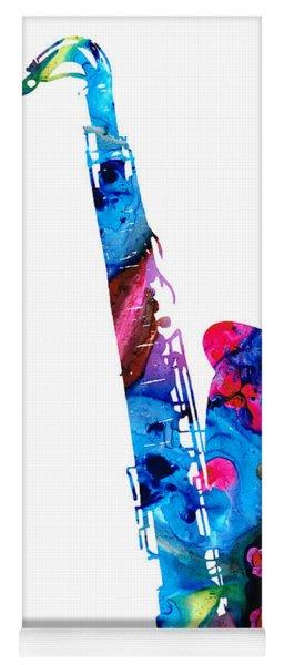 Colorful Saxophone 2 By Sharon Cummings Yoga Mat