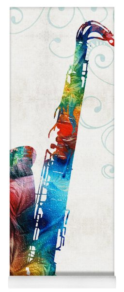 Colorful Saxophone 3 By Sharon Cummings Yoga Mat