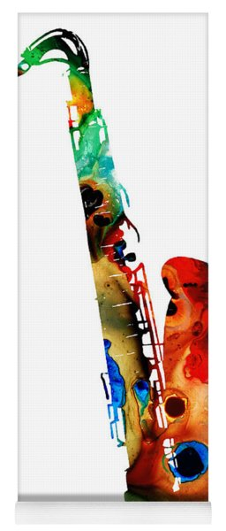 Colorful Saxophone By Sharon Cummings Yoga Mat