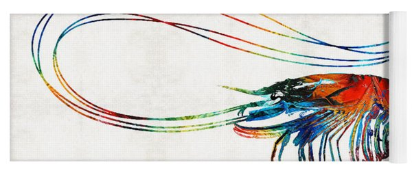 Colorful Shrimp Art By Sharon Cummings Yoga Mat
