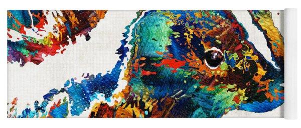 Colorful Skunk Art - Dee Stinktive - By Sharon Cummings Yoga Mat