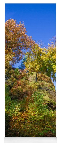 Colorful Trees In The Elbe Sandstone Mountains Yoga Mat