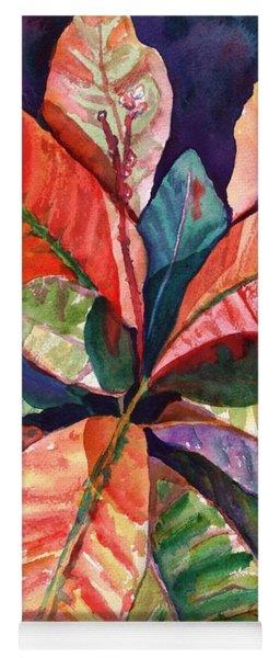 Colorful Tropical Leaves 1 Yoga Mat