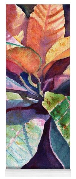 Colorful Tropical Leaves 3 Yoga Mat